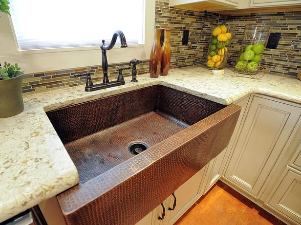 The New Kitchen Fairly Sparkles U2014 Dressed Out With Quartz Countertops, A  Copper Farmhouse Sink And Designer Faucet In Coordinating Pebbled Brushed  Copper.