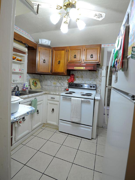 Prior To The Renovation, Some Of The Less Than Stellar Features In This Sad  Little Kitchen Included Mismatched Cabinets (wood Panel Above; Painted  White ...