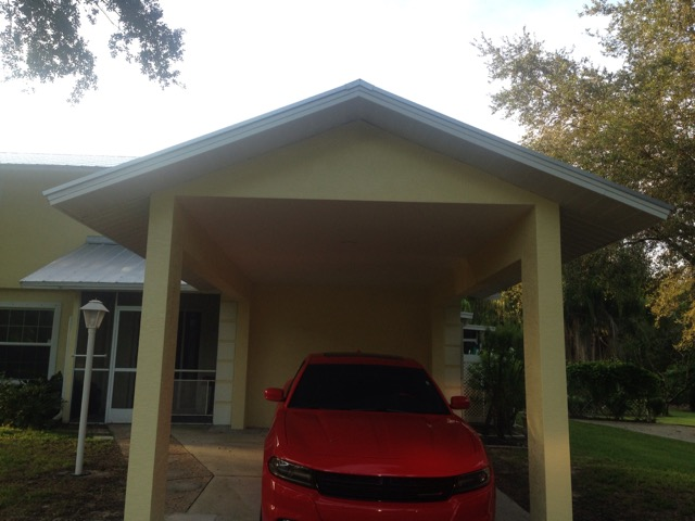 Buckingham carport addition olde florida contracting inc for Carport additions